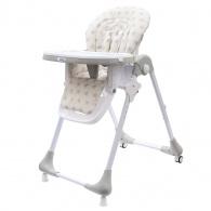 Jedálenská stolička NEW BABY Gray Star - ekokoža NEW BABY