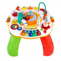 Hovoriaci a hrajúci interaktívný stolček New Baby s jazdiacim vláčikom CZ/SK NEW BABY