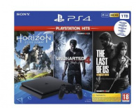 SONY PlayStation 4 - 1TB slim + HZD + TLOU + UC4