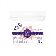 Papierové vatové tyčinky 100% natural Linteo 80 ks vo vrecku Linteo