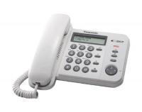 KX-TS560FXW Panasonic - jednolinkový tel., displej, Data port, CLIP, barva bílá