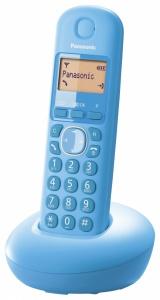 KX-TGB210FXF Panasonic - cenově výhodný digitální bezdrátový telefon s podsvíceným displejem, CLIP, barva modrá
