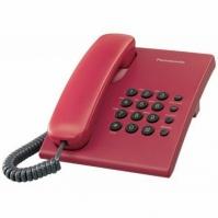 KX-TS500FXR Panasonic - jednolinkový telefon bez displeje, červený