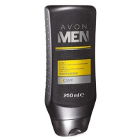 Sprchový gel 3 v 1 Men Energizing (3-In-1 Shampoo, Conditioner And Body Wash) 250 ml Avon