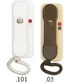 4FP21036.101 Tesla - DT 85 Domácí telefon s bzučákem s 1 tl. na EZ bílý