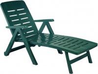 Plastové polohovací lehátko Smeraldo zelené
