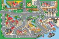 Dětský koberec Hrací koberec Město  s přístavem 1001063