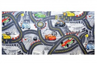 Dětský koberec The World od Cars 97 šedý