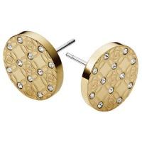 Michael Kors Pozlacené luxusní náušnice s krystaly MKJ4276710