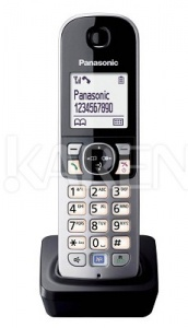 KX-TGA681FXB Panasonic - DECT přídavný mikrotelefon pro KX-TG6811/6812/6821/6881 černý