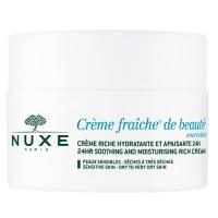 Zklidňující a hydratační krém pro suchou až velmi suchou pleť Creme Fraiche® De Beauté Enrichie (24HR Soothing and Moisturizing Rich Cream) 50 ml Nuxe