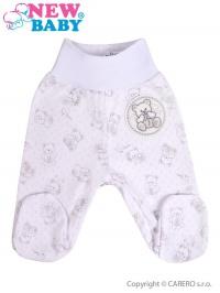 Dojčenské polodupačky New Baby Roztomilý Medvedík biele NEW BABY