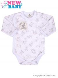 Dojčenské body celorozopínacie New Baby Roztomilý Medvedík biele NEW BABY