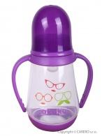 Fľaša s obrázkom Akuku 125 ml fialová AKUKU