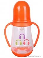 Fľaša s obrázkom Akuku 125 ml oranžová AKUKU