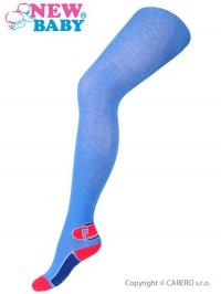 Bavlnené pančucháče New Baby modré s písmenom F NEW BABY