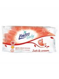 Vlhčené obrúsky Linteo Baby 72 ks Soft and cream Linteo