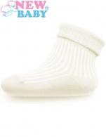 Dojčenské pruhované ponožky New Baby cappuccino NEW BABY