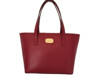 Elegantní kožená business kabelka Jet Set Safiano Leather Tote Red Michael Kors