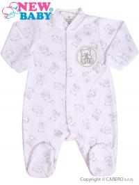 Dojčenský overal New Baby Roztomilý Medvedík biely NEW BABY