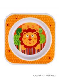 Detský tanier Akuku oranžový s levíkom AKUKU