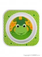 Detský tanier Akuku zelený s žabičkou AKUKU