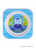 Detský tanier Akuku modrý s hrochom AKUKU