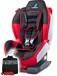 Autosedačka CARETERO Sport TurboFix red 2016 + darček CARETERO