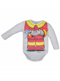 Dojčenské body Bobas Fashion Hrdina s hasičom BOBAS FASHION