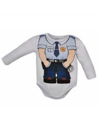 Dojčenské body Bobas Fashion Hrdina s policajtom BOBAS FASHION