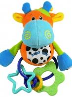 Plyšová hračka s hrkálkou Baby Mix krava BABY MIX
