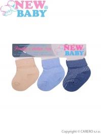Dojčenské pruhované ponožky New Baby farebné - 3ks NEW BABY