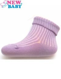 Dojčenské pruhované ponožky New Baby fialové NEW BABY