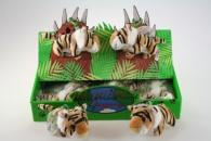 Plyš tygr hnědý klíčenka 24/cena KUS ( iba komplet balenie )