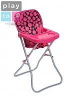 Jedálenská stolička pre bábiky PlayTo Dorotka ružová PLAYTO