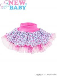 Dojčenská suknička s tylovou spodničkou New Baby Leopardík ružová NEW BABY