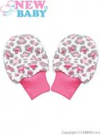 Dojčenské rukavičky New Baby Leopardík ružové NEW BABY