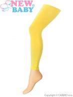 Tenké jednofarebné legínky New Baby žlté NEW BABY