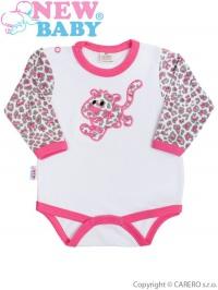 Dojčenské body New Baby Leopardík ružové NEW BABY