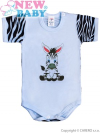 Dojčenské body s krátkym rukávom New Baby Zebra modré NEW BABY