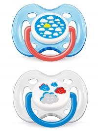 Dojčenský cumlík Avent 0-6 mesiacov - 2 ks obláčiky AVENT