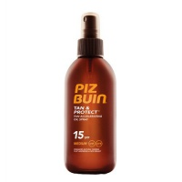 Olej urychlující proces opalování ve spreji SPF 15 Tan & Protect (Accelerating Oil Spray) 150 ml Piz Buin