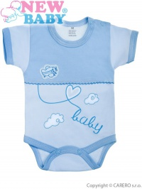 Dojčenské body s krátkym rukávom New Baby Clouds modré NEW BABY