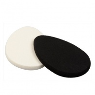 Oválná houbička na make-up Black & White (Make-Up Sponge) 2 ks Sefiros