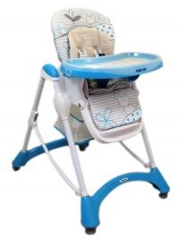 Jedálenská stolička Baby Mix blue BABY MIX