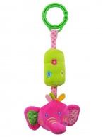 Detská plyšová hračka s rolničkou Baby Mix sloník BABY MIX