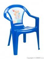 Detský záhradný nábytok - Plastová stolička modrá STAR PLUS