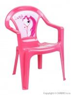 Detský záhradný nábytok - Plastová stolička ružová STAR PLUS