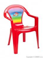 Detský záhradný nábytok - Plastová stolička červená vrtulník STAR PLUS