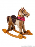Hojdací koník na kolieskach BAYO Endy béžový BAYO